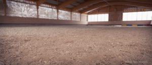 Welcher Boden in der Reithalle ideal ist, hängt davon ab, wie dort geritten wird.