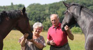 Passion für Pferde: Sibylle Wiemer und Eberhard Weiss haben sich dem Unterricht in der klassischen Reitweise verschrieben. Foto: Wiemer