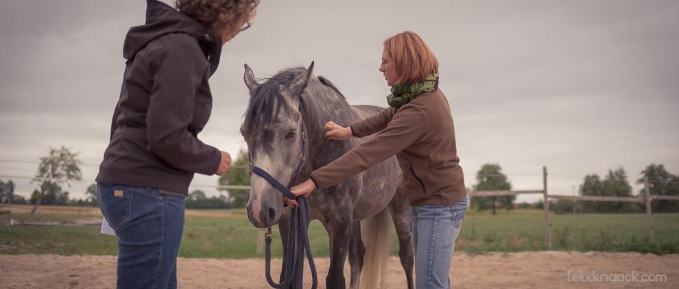 Beim Physio-Check mit Angelika Wohlfarth, meiner Expertin für Physiotherapie.
